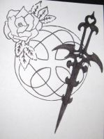 Celtic Knot + Rose and Dagger by xXpandaphileXx