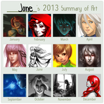 2013 Summary of Art by satynfyre