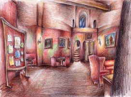 Gryffindor common room by Hermionina