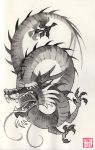 05 Inktober - Chinese Dragon by Okha
