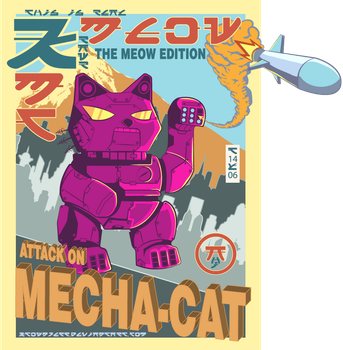 Attack On Mecha-Cat by ktownjeff