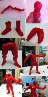 Moebius Iron Man Mk6 Model kit process by Patrick-Hennings