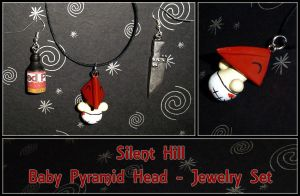 Baby Pyramid Head Jewelry by YellerCrakka