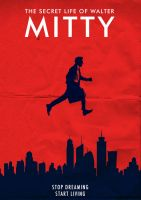 Walter Mitty Poster Artwork by Omer Aldemir by omeraldemir