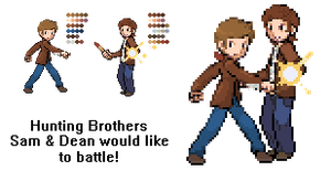 Sprite Edit: SPN Sam and Dean Winchester by intenseObjections
