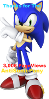 Thanks for the 3,008 pageviews*AntiSonicPony by FiveNightsAtFoxys