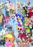 Sonic and MLP Crossover by SHNCV999