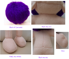 Plushie Bodyparts Closeup by AshFantastic