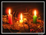 Yule candles by MetalLara