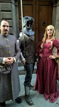 The Lioness, the Hound and Littlefinger by Poisonambra