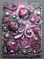 Metallic Raspberry ACEO by MandarinMoon