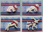 Winter Animals - Paper Brooches - FOR SALE by PoonieFox