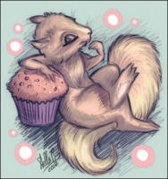 Cupcake Squirrel by StellaB