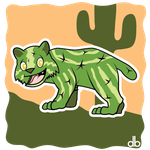 Cactus Cat Sticker by Gr8Gonzo