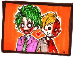 Joker and Harvey by x-gogole-x