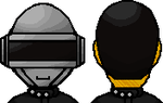 Daft Punk - Technologic pixel art by GingaAkam