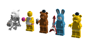 Lego Five Night's At Freddy's 2 Minifigures by SonicTheDashie