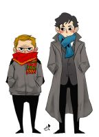 Sherlock and John by metope87