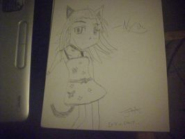 Anime cat girl lol by FR0STBYTE000