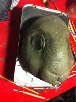 Rabbit mask WIP by missmonster
