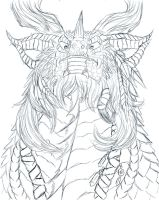Dragon Shaman sketch by Ghostwalker2061
