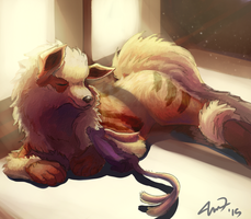 Bathing in the sunlight by TheKiwiSlayer