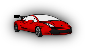 Lamborghini Gallardo draw with Inkscape by GTheMac