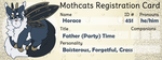 [Mothcats Registration Card] Horace by lepidopterae