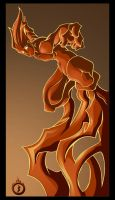 :Human Torch: by psychoheat