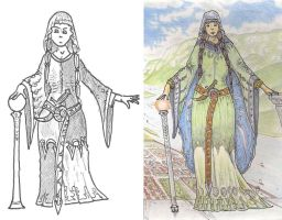 World of Arzira - Shellyn WIP and finished by alexine-pankhurst