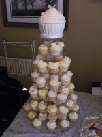 Wedding Cupcake Tower by gertygetsgangster