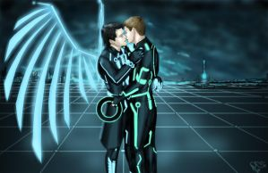 destiel - TRON au by moloko-plus