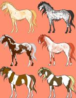 Horse Adoptables by xJoltix