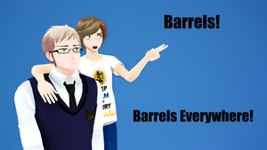 Pewdiepie and Sweden - Barrels Everywhere! by PikaBlaze