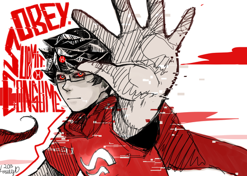 OBEY. SUBMIT. CONSUME - HOMESTUCK by LaWeyD