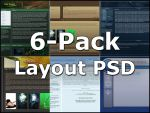 6-Pack Free Layout PSD by Enfero