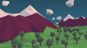 Low Poly Mountains by felipecarbus