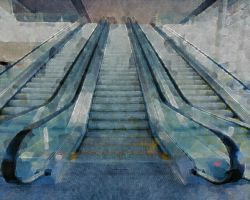 escalator by ChaelMontgomery