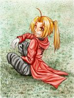 A beautiful day - Edward Elric by oOFlorianeOo
