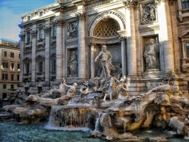 Trevi Fountain by cristilaceanu