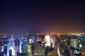 Midtown from above by night by abxe