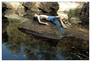 Naiad on rock 2 by wildplaces