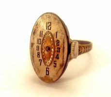 Vintage Watch Face Ring by SteamDesigns