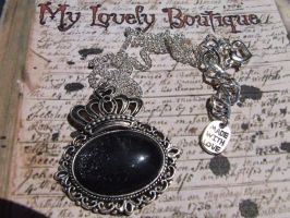 Black Sparkling Queen Cameo by TheLovelyBoutique