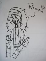 Jack Sparrow and his rum by PyromaniacVampire