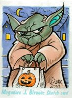 Yoda Sketch Card by MJBivouac