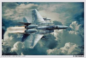F-15C by Distantstarr