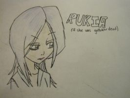 Rukia if she were dead and or goth by CrapILostTheGame1999