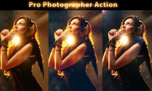 Pro Photographer Action by kmblogdesignign