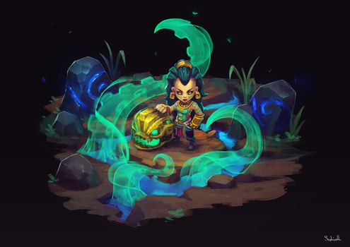 Illaoi - League of Legend FanArt by Sephiroth-Art